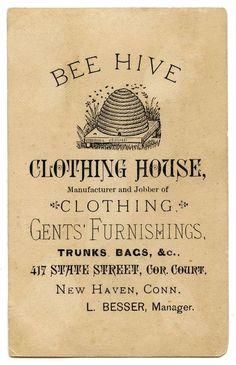 We love this vintage men's clothing store advertisement. Isn't it cool? #beehive #vintage #bees
