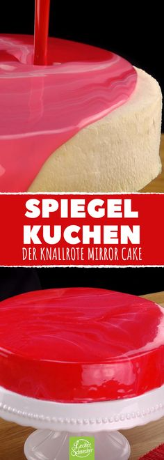 Mirror Cake - Recipe for a mirror cake with a shiny glaze Mirror Cake – Recipe for a mirror cake with a shiny glaze Spiegel Kuchen – Rezept für einen Mirror Cake mit glänzender Glasur 640 Source by Glaze For Cake, Mirror Glaze Cake, Cake Recept, Chocolate, Food Cakes, Cakes And More, Cake Cookies, No Bake Cake, Fondant