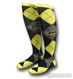 Batman knee highs!  @Teri Brown  MOM I NEED THESE