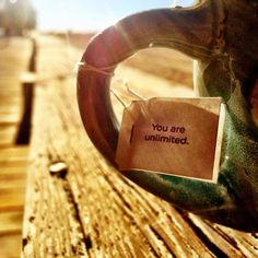 """""""You are unlimited."""" ~Yogi tea tag quote (beautiful picture, Instagram user @godseyba!)"""