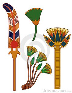 Egypt ornament& lotus flowers