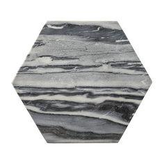Bloomingville - Hexagonal Grey Marble Cutting Board
