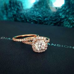 2.20 Ct Natural Cushion Halo Pave Diamond Engagement Ring w/ Matching Band #Halo