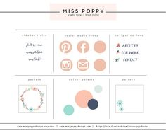 Boutique Blog & Web Branding Kit / Graphic by MissPoppyDesign, $70.00