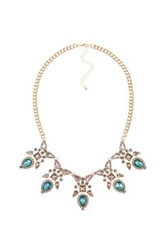 Allure the ballroom in this extravagant jeweled necklace!