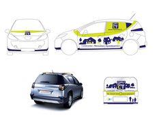 Création signalétique pour voiture - Maisons CT