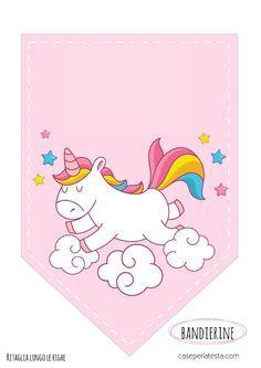 Banderin Unicornio Con Imagenes Ideas De Fiesta Unicornio
