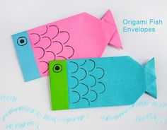 DIY Origami Fish Envelopes