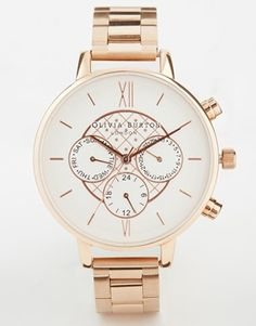 Enlarge Olivia Burton Chronograph Detail Dotty Copper Watch