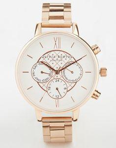 Olivia Burton Chronograph Detail Dotty Copper Watch