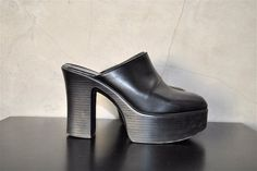 vintage shoes 1990's black GOTH / CLuB KiD by youngandukraine, $65.00