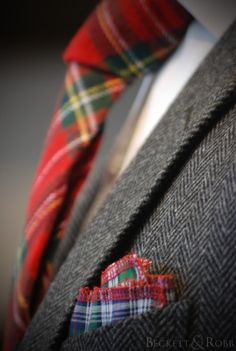 Never be timid when it comes to wearing your tartan!