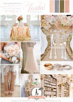 Peach and Gold Wedding Inspiration  by @Rose Pendleton Murphy via Bridal Musings Wedding Blog