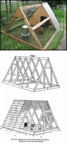 1000 ideas about a frame chicken coop on pinterest for Enclosed chicken run plans