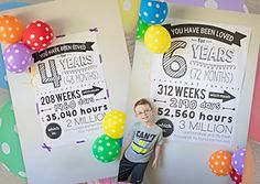 """Do you love freebies as much as I do…? I hope so! Because I'm sharing a BIG one with you today! When my daughter turned four in May, my son asked if we could make her a """"big&… Birthday Surprise For Husband, Birthday Morning Surprise, Today Is My Birthday, 14th Birthday, Birthday Diy, Birthday Ideas, Birthday Quotes, Birthday Countdown, Birthday Board"""