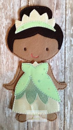 Kiss Any Frogs Lately Princess Felt Un Paper by NettiesNeedlesToo, $12.00
