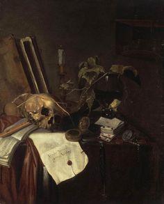 Pieter van Steenwyck Still Life (Vanitas) , 17th century