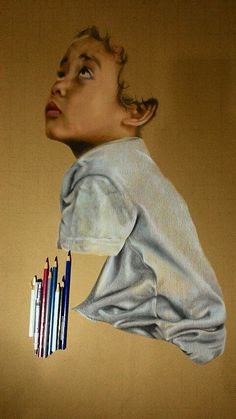 Malaki Bayan Ahmad Color pencil 79x55cm