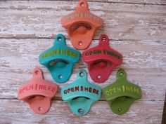 One Cast Iron Bottle Opener Antique Style Reminiscent of Days of Old or Gone By in Your Choice of Color(s) Vintage Retro Rustic Style. $7.95, via Etsy.