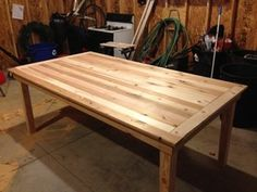 """DIY dining table: cedar wood for the table, which at first I wasn't sure about because I didn't love the orange/red undertones. However, stained with Sherwin William's """"Woodscapes"""" Stain in the color """"River Birch"""" and any trace of the red undertones disappeared completely.  — The Fat Hydrangea"""