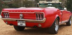 1967 Red Ford Mustang GT Convertible