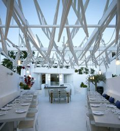greek restaurant PHOS, Mykonos (PHOS is the greek word for light) by LM Architects