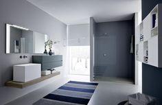 Mueble bajo lavabo lacado con espejo COMP N03 Colección Nyù by IdeaGroup
