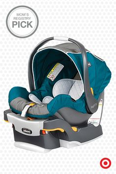 Baby on Board—keep your baby safe and secure with the Chicco KeyFit 30 Infant Car Seat. This car seat features a thickly cushioned seat with a 5-point harness, energy absorbing foam and removable newborn insert that accommodates babies from 4 to 30 pounds.