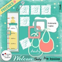 FREEBIE : freebies-Welcom-baby - Free-digiscrap.com : le digiscrap gratuit ! The…