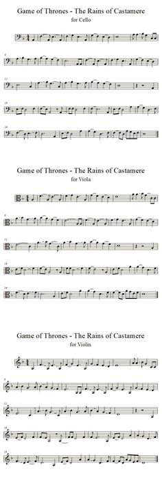 Rains of Castamere | Cello, Violin, Viola | Solos by averoxot