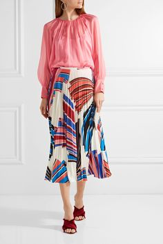 Emilio Pucci | Gathered silk blouse | NET-A-PORTER.COM