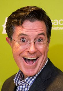 Stephen Colbert (2014, 1964 - ) an American comedian, writer, producer, actor, media critic, and television host. He currently hosts the late-night television talk show The Late Show with Stephen Colbert on CBS