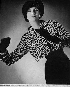 Vogue - September 1957 ~ LEOPARD! ♥