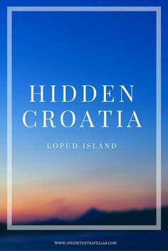 Lopud Island - A beautiful slice of peace and tradition when you travel to Croatia via @insidetravellab