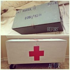 Recruit a military box to serve as a toy box.