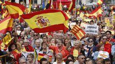 Foto: Concentración en Barcelona el 12 de octubre. (EFE)