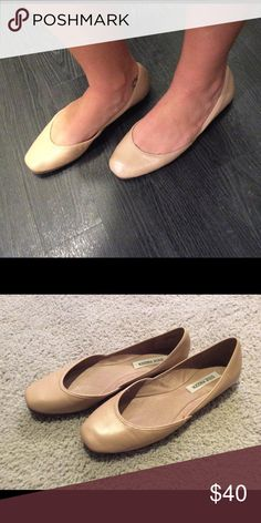 Steve Madden nude flats Steve Madden nude leather square toe flats, have only been worn a couple of times and are in great shape! Steve Madden Shoes Flats & Loafers