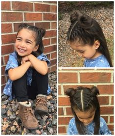 Easy hairstyles for little girls #easykidshairstyl... #Easy #easykidshairstyl #girls #hairstyles