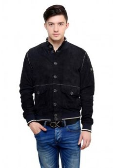 SUEDE LEATHER POLO JACKET