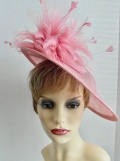 Fascinators, Hair Band, Mother Of The Bride, Feathers, Special Occasion, Merry, Etsy Shop, Hats, Pink