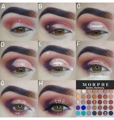 Best eye shadow looks jaclyn hill palette step by step ideas What's Makeup ? What's Makeup ? Eye Makeup Steps, Makeup Eye Looks, Love Makeup, Skin Makeup, Makeup Inspo, Eyeshadow Makeup, Makeup Brushes, Makeup Tips, Beauty Makeup