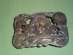 1901 Lillie Langtry Bronze Belt Buckle The Jersey Lily actress by pasttimejewelry, $95.00