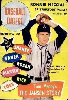 Play Ball!! Baseball Digest Covers from the 1940s-50s: http://www.robertnewman.com/play-ball-baseball-digest-covers-from-the-1940s-50s/. Baseball Digest, August 1952.