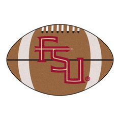 FANMATS Ncaa Florida State University FSU Logo Brown 2 ft. x 3 ft. Specialty Area Rug, Team Colors
