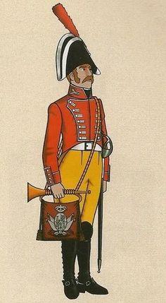 Dragones de la Reina 1808. Trompeta