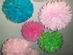 Alice In Wonderland Theme Party | Alice in Wonderland theme party pom. Set of 12 POMS...Make it magical ...