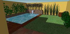 rustic Pool by CC Patio Chico, Piscina Diy, Diy Swimming Pool, Villa, Plunge Pool, Jacuzzi, Ideas Para, Beach Mat, Outdoor Blanket