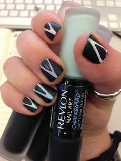 #ManicureMonday DIY: Matte Chevron Nail Art