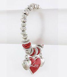 Red Hot Love Charm Bracelet