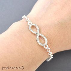 Silver infinity Bracelet everyday infinity jewelry by JewelMango. Gorgeous, and lots of other great items in the shop! Cute Jewelry, Jewelry Shop, Silver Jewelry, Jewelry Accessories, Handmade Jewelry, Women Jewelry, Unique Jewelry, Jewelry Bracelets, Bridesmaid Jewelry